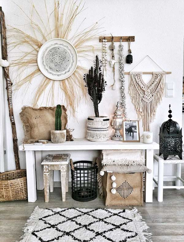 Maak gebruik van leuke meubels in een bohemian interieur.