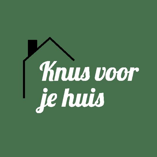 Knus voor je huis logo white black
